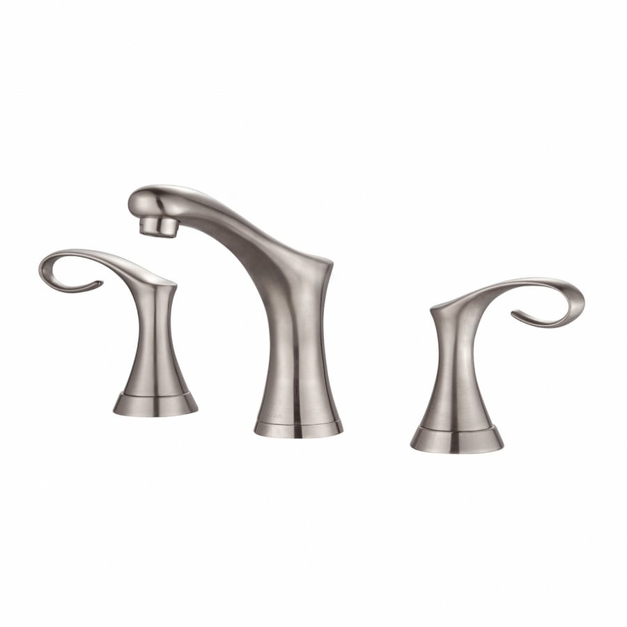 Kraus Premier Brushed Nickel 2-Handle Widespread WaterSense Bathroom Faucet
