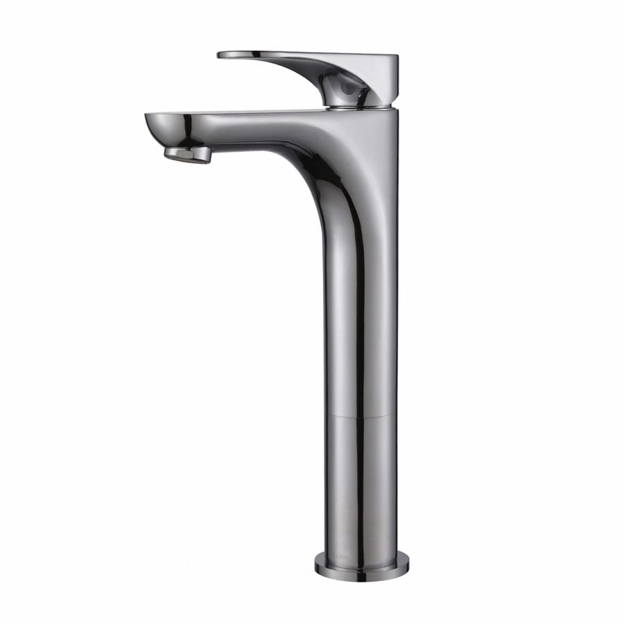 Kraus Premier Chrome 1-Handle Vessel WaterSense Bathroom Faucet (Drain Included)