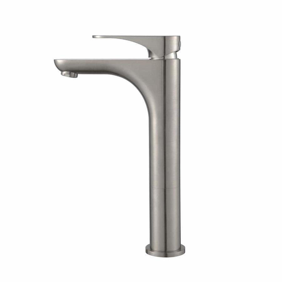 Kraus Premier Brushed Nickel 1-Handle Vessel Bathroom Sink Faucet