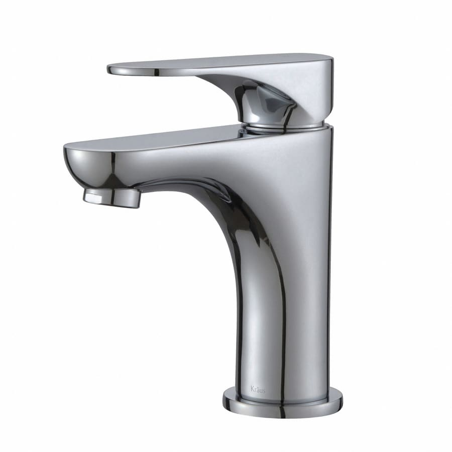 Kraus Premier Chrome 1-Handle Single Hole WaterSense Bathroom Faucet (Drain Included)