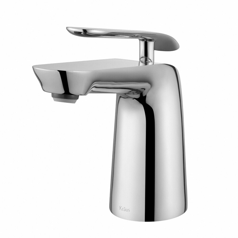 Kraus Seda Chrome 1-Handle Single Hole WaterSense Bathroom Faucet (Drain Included)