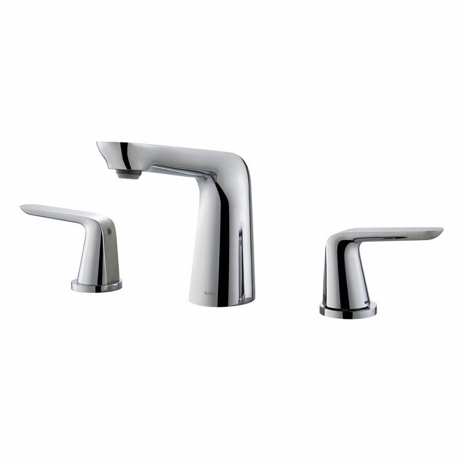 Kraus Premier Chrome 2-Handle Widespread WaterSense Bathroom Faucet