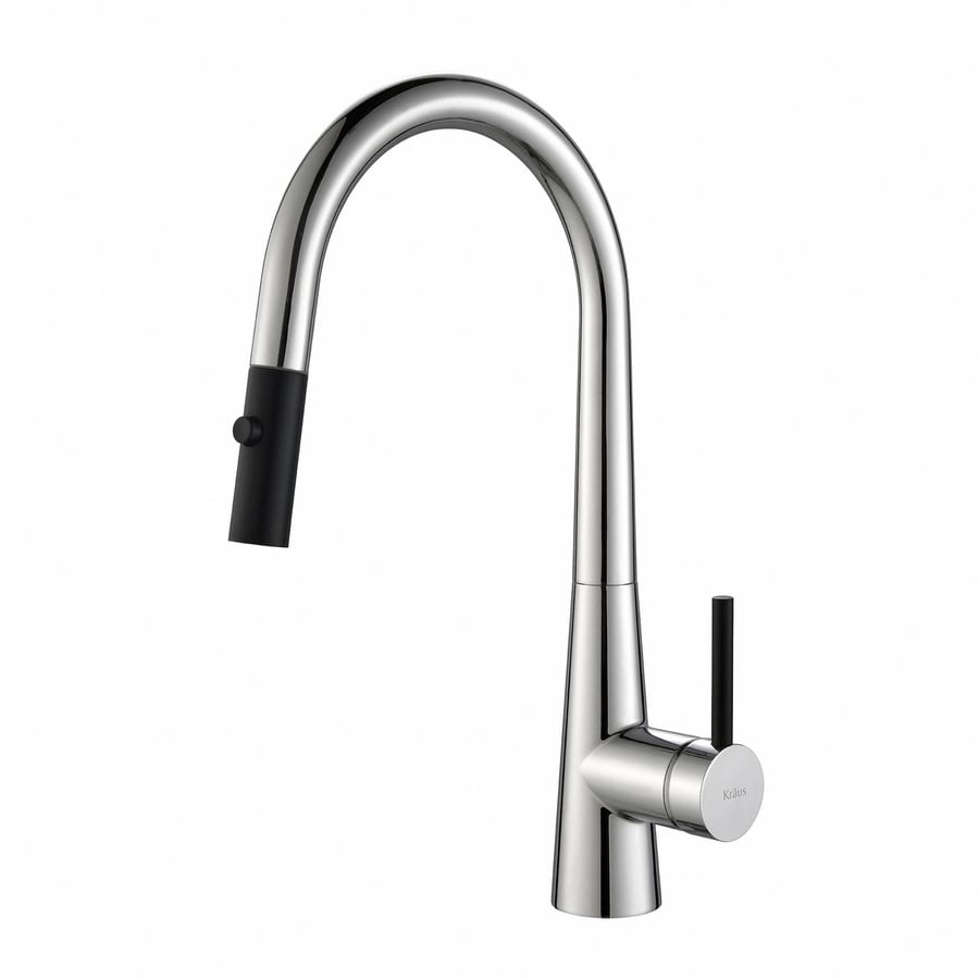 Kraus Quick-Install Kitchen Faucet Chrome 1-Handle Pull-Down Kitchen Faucet
