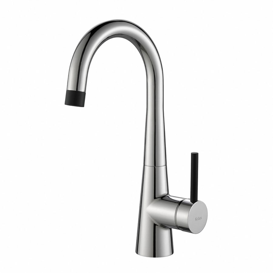 Low Arc Kitchen Faucet Shop Kraus Quick Install Kitchen Faucet Chrome 1 Handle Low Arc