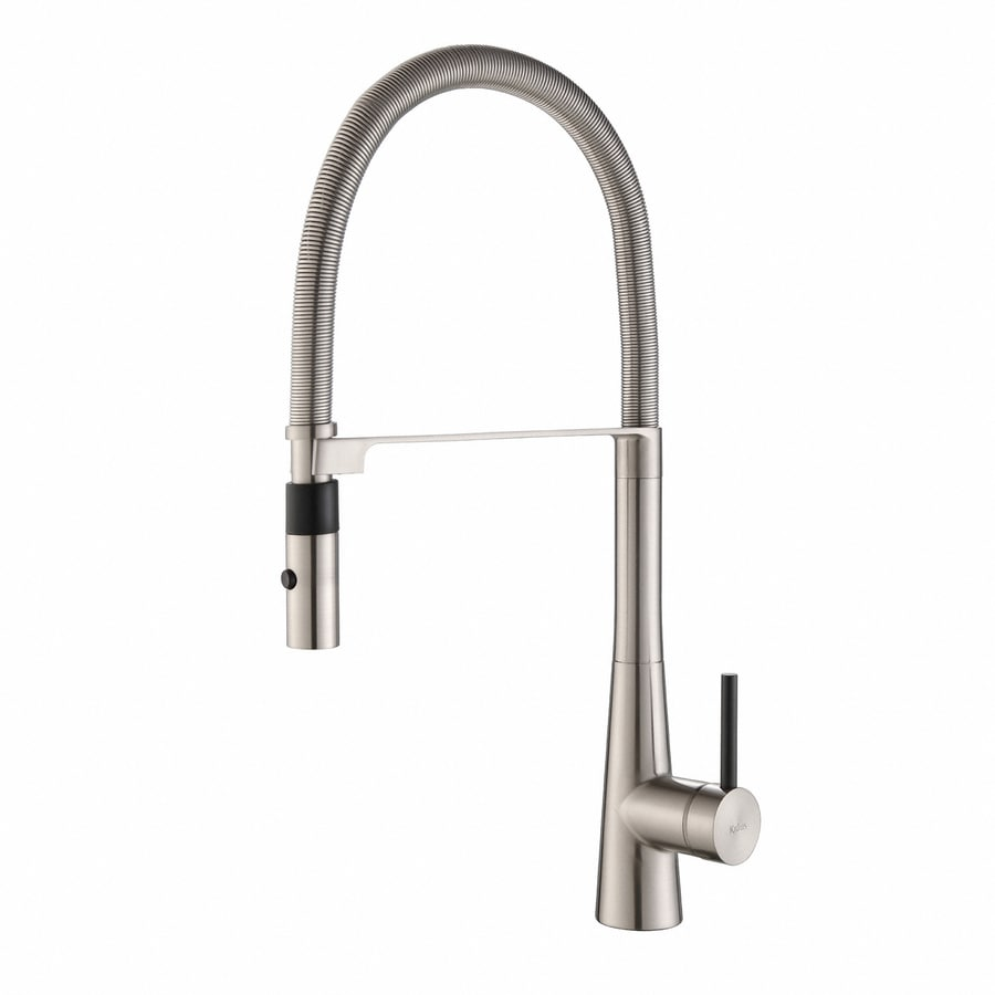 Kraus Quick-Install Stainless Steel 1-Handle Pre-Rinse Kitchen Faucet