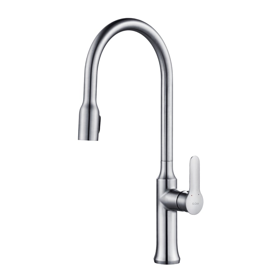 Kraus Nola Chrome 1-Handle Pull-Down Sink/Counter Mount Traditional Kitchen Faucet