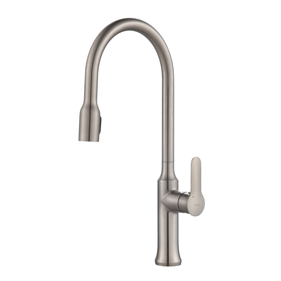 Shop Kraus Nola Stainless Steel 1 Handle Pull Down Kitchen Faucet At
