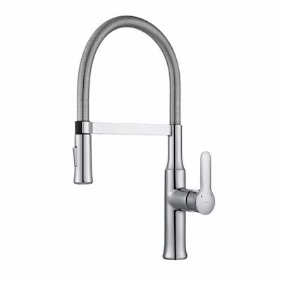 Nola Chrome 1-Handle Deck Mount Pre-Rinse Commercial/Residential Kitchen  Faucet