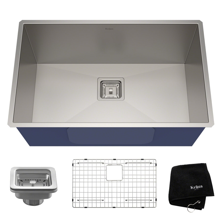 Kraus Pax 28 5 In X 18 5 In Stainless Steel Single Basin