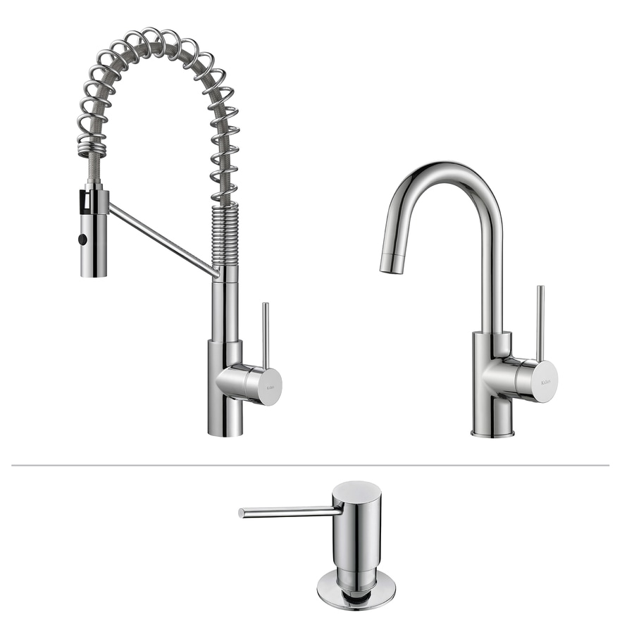Kraus Quick-Install Kitchen Faucet Chrome 1-Handle Pre-Rinse Kitchen Faucet