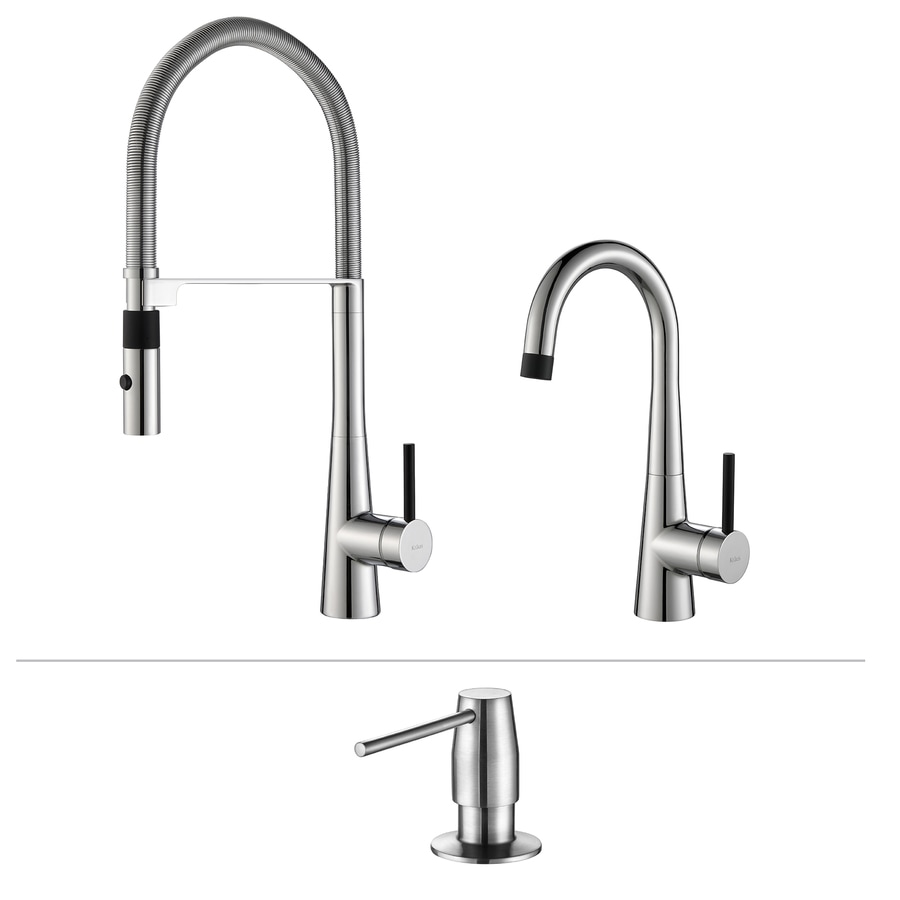 Kraus Quick-Install Chrome 1-Handle Pre-Rinse Kitchen Faucet