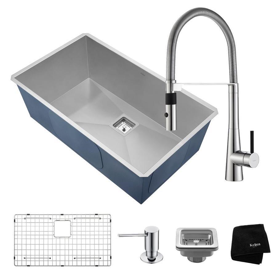 Industrial Residential Kitchen: Shop Kraus Pax 31.5-in X 18.5-in Satin Single-Basin