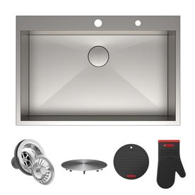 Shop Kraus Stainless steel Kitchen Sinks at Lowes.com