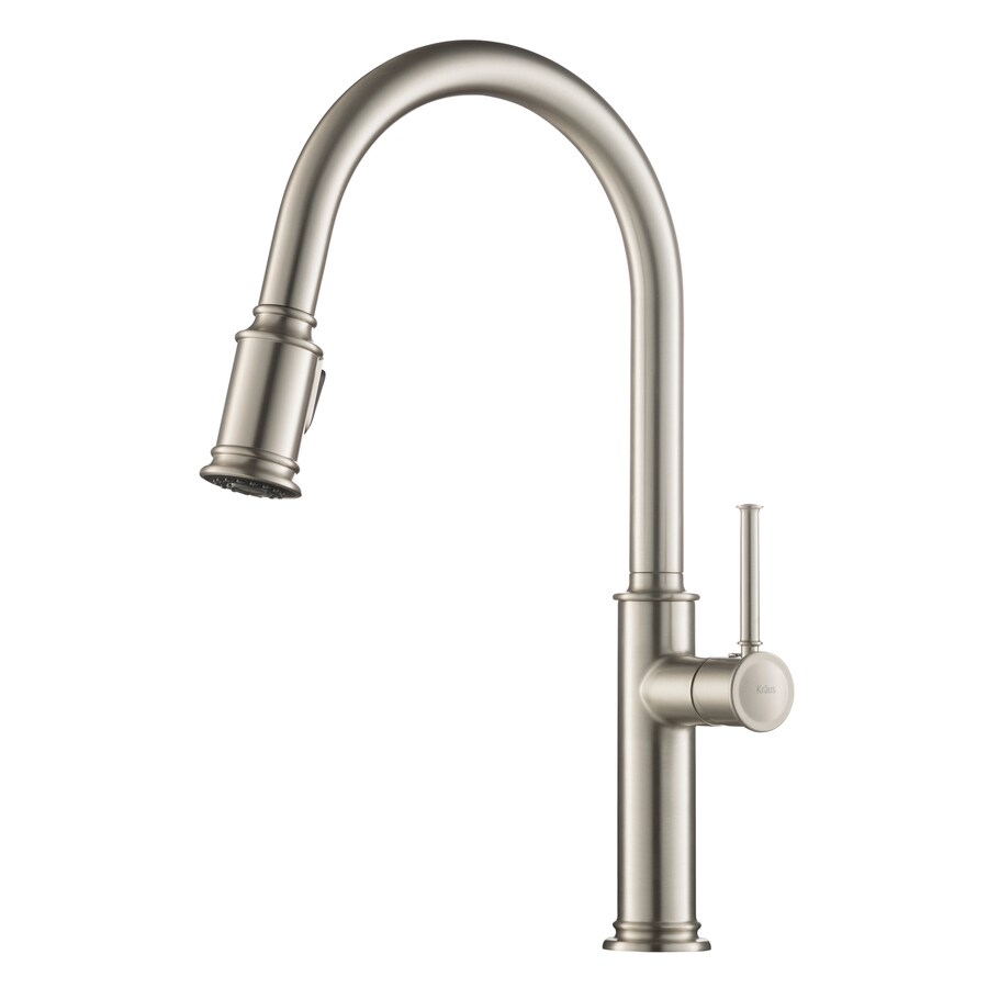 water filter for pull down faucet. Kraus Sellette Stainless Steel 1 Handle Deck Mount Pull Down Kitchen Faucet Shop
