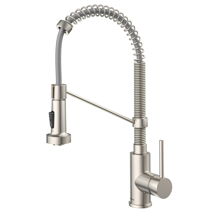 spray kitchen hotis steel faucets reviews best down pull sink out with swivel sprayer single faucet stainless handle or modern touch hole prep