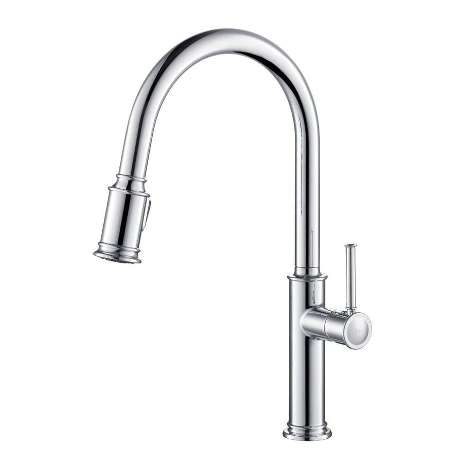 Kraus Sellette Chrome 1-Handle Deck Mount Pull-down