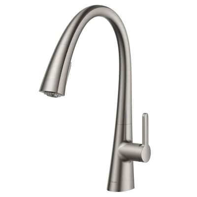 Nolen All-brite Spot Free Stainless Steel 1-Handle Deck Mount Pull-down  Residential Kitchen Faucet