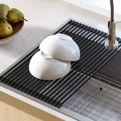 Kraus KRAUS Multipurpose Over Sink Roll-Up Dish Drying Rack