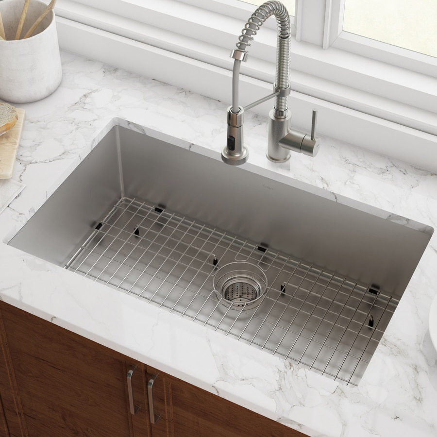 Kraus Standart Pro Undermount 26 In X 18 In Stainless Steel Single Bowl Kitchen Sink In The Kitchen Sinks Department At Lowes Com