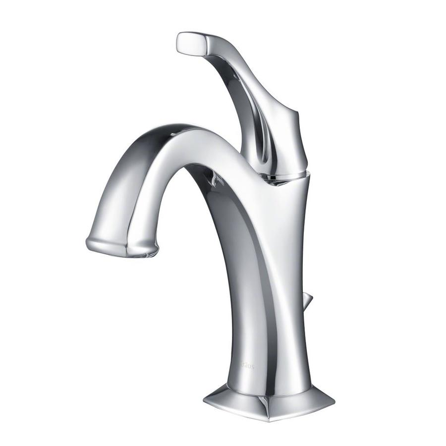 Shop kraus arlo chrome single handle basin bathroom faucet - Kraus shower faucets ...