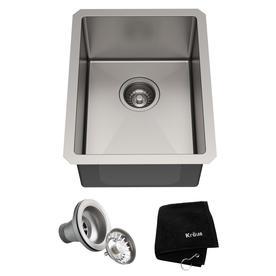 KRAUS Standart PRO™ 14-inch 16 Gauge Undermount Single Bowl Stainless Steel Kitchen Bar Sink