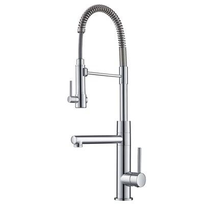 Artec Chrome 1 Handle Deck Mount Pre Rinse Kitchen Faucet