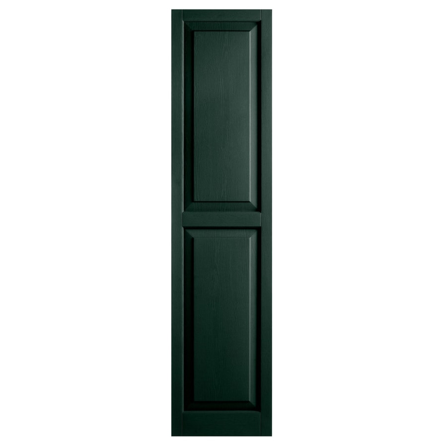 Alpha 2-Pack Pine Raised Panel Vinyl Exterior Shutters (Common: 15-in x 59-in; Actual: 14.75-in x 58.44-in)