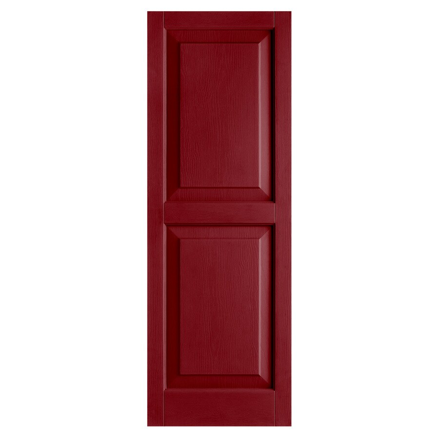 Shop Alpha 2 Pack Cranberry Raised Panel Vinyl Exterior