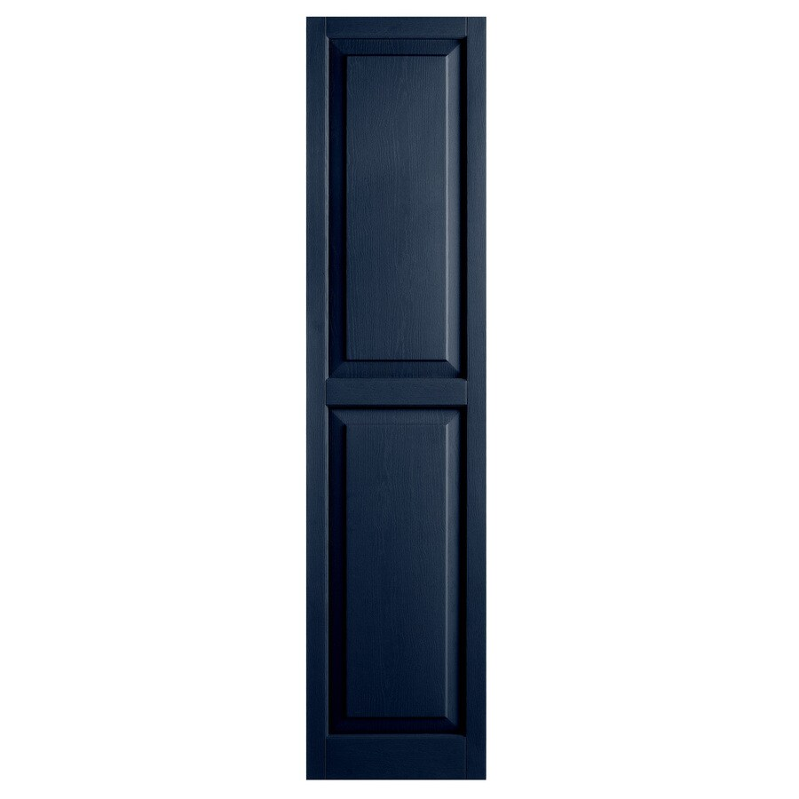 Alpha 2-Pack Royal Raised Panel Vinyl Exterior Shutters (Common: 15-in x 63-in; Actual: 14.75-in x 62.19-in)