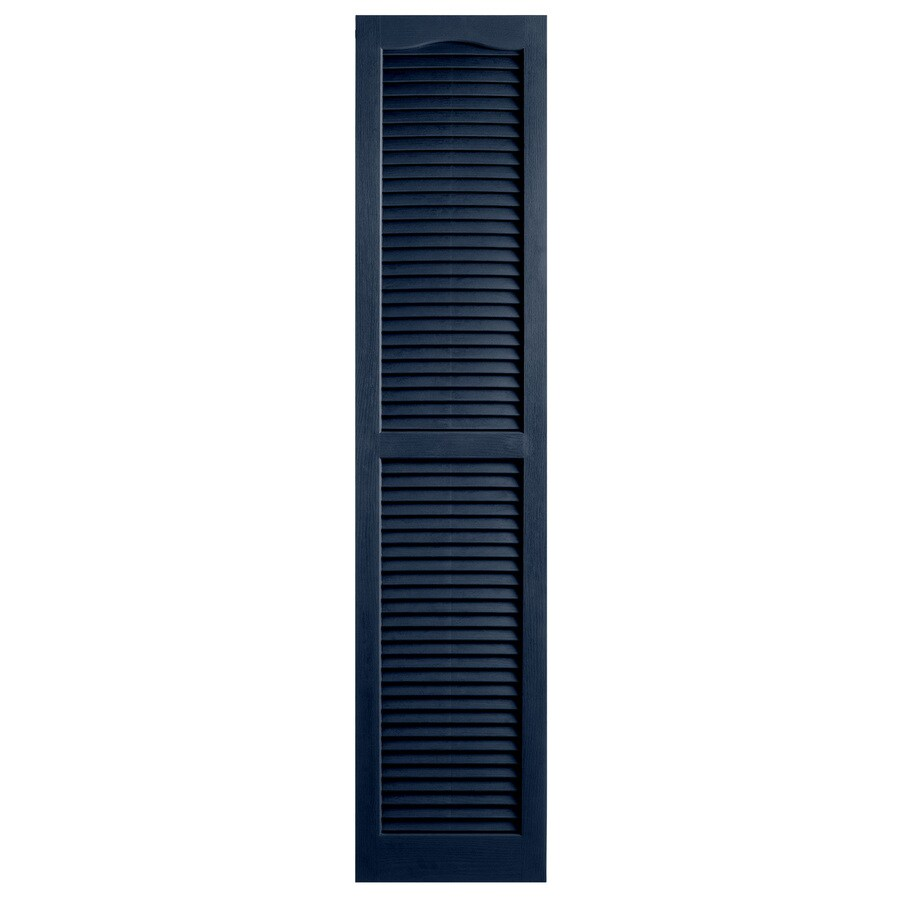 Alpha 2-Pack Royal Louvered Vinyl Exterior Shutters (Common: 14-in x 59-in; Actual: 13.75-in x 58.88-in)