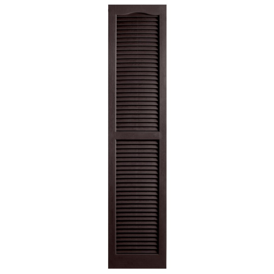 Shop Alpha 2 Pack Chocolate Louvered Vinyl Exterior