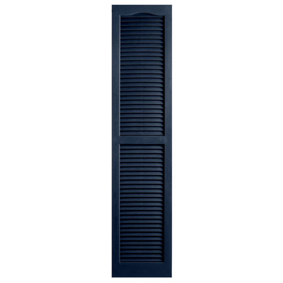 Alpha 2-Pack Royal Louvered Vinyl Exterior Shutters (Common: 14-in x 81-in; Actual: 13.75-in x 80-in)