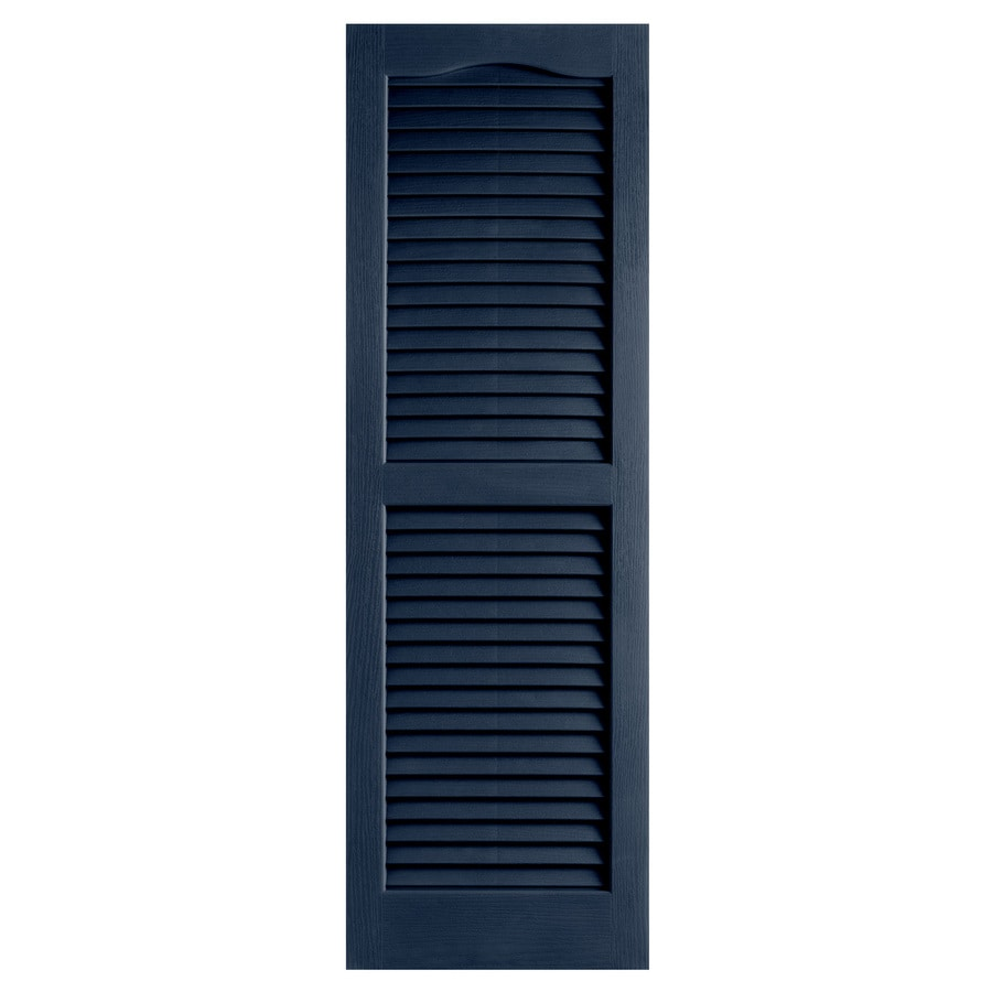 Alpha 2-Pack Royal Louvered Vinyl Exterior Shutters (Common: 14-in x 25-in; Actual: 13.75-in x 24.88-in)