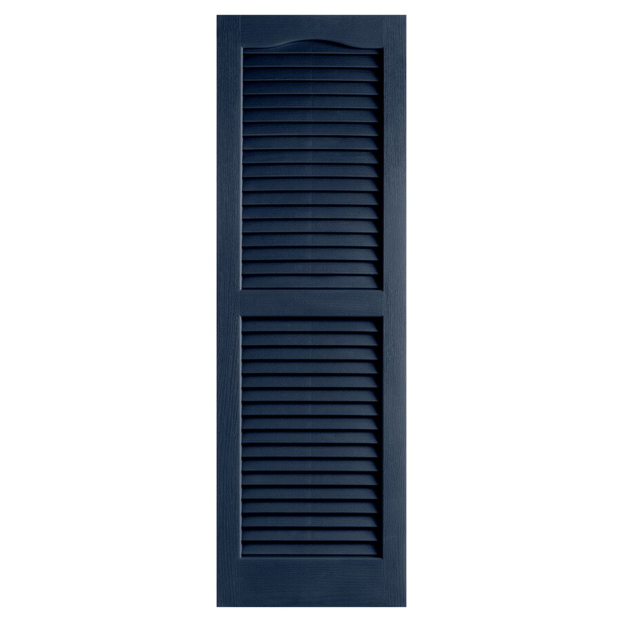 Alpha 2-Pack Royal Louvered Vinyl Exterior Shutters (Common: 14-in x 47-in; Actual: 13.75-in x 47-in)