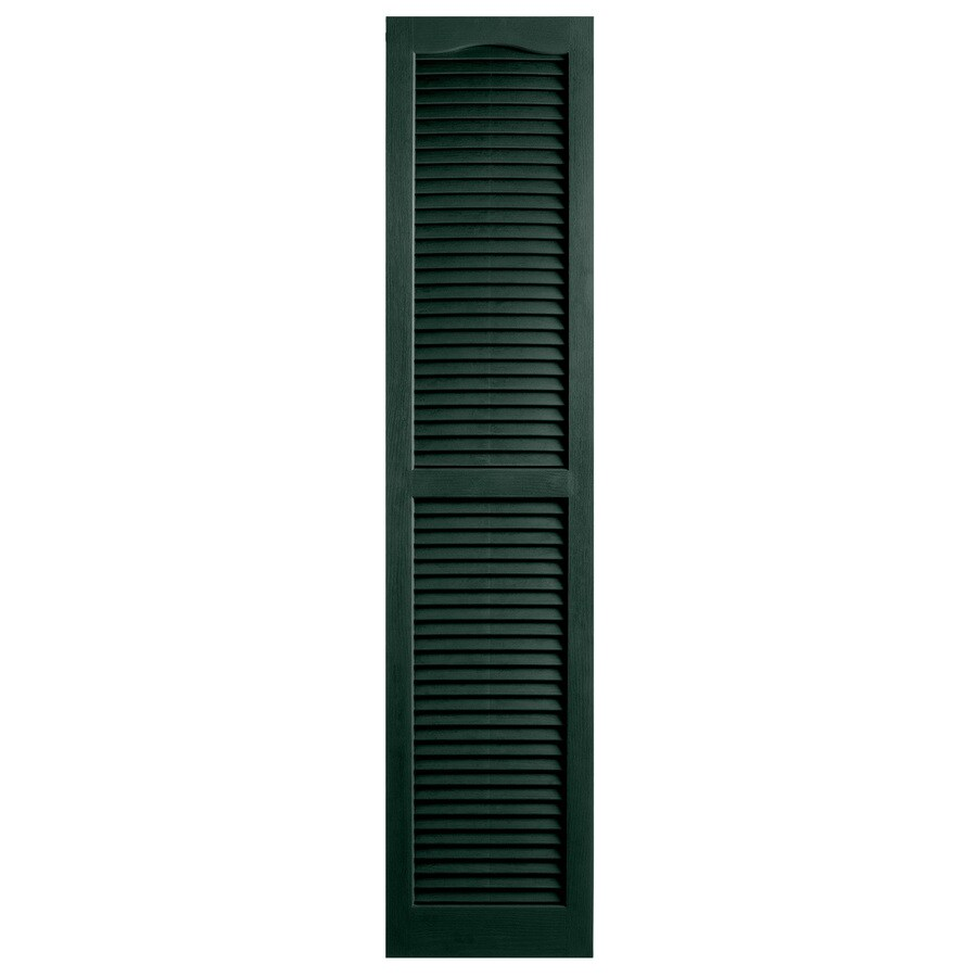 Alpha 2-Pack Pine Louvered Vinyl Exterior Shutters (Common: 14-in x 63-in; Actual: 13.75-in x 62.19-in)