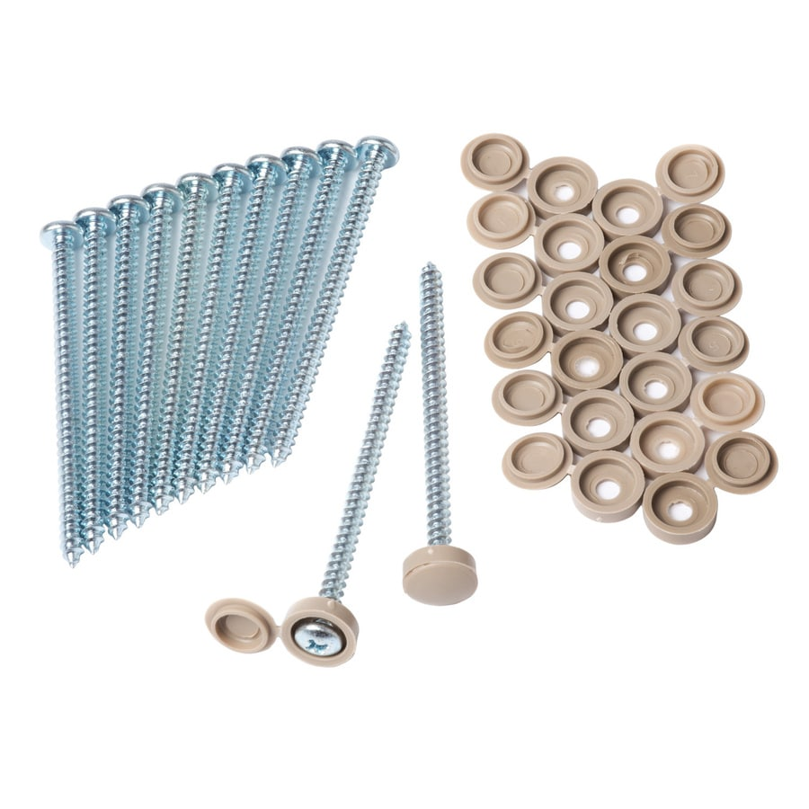 Alpha 12-Pack Exterior Shutter Screw and Hinge Cap Set