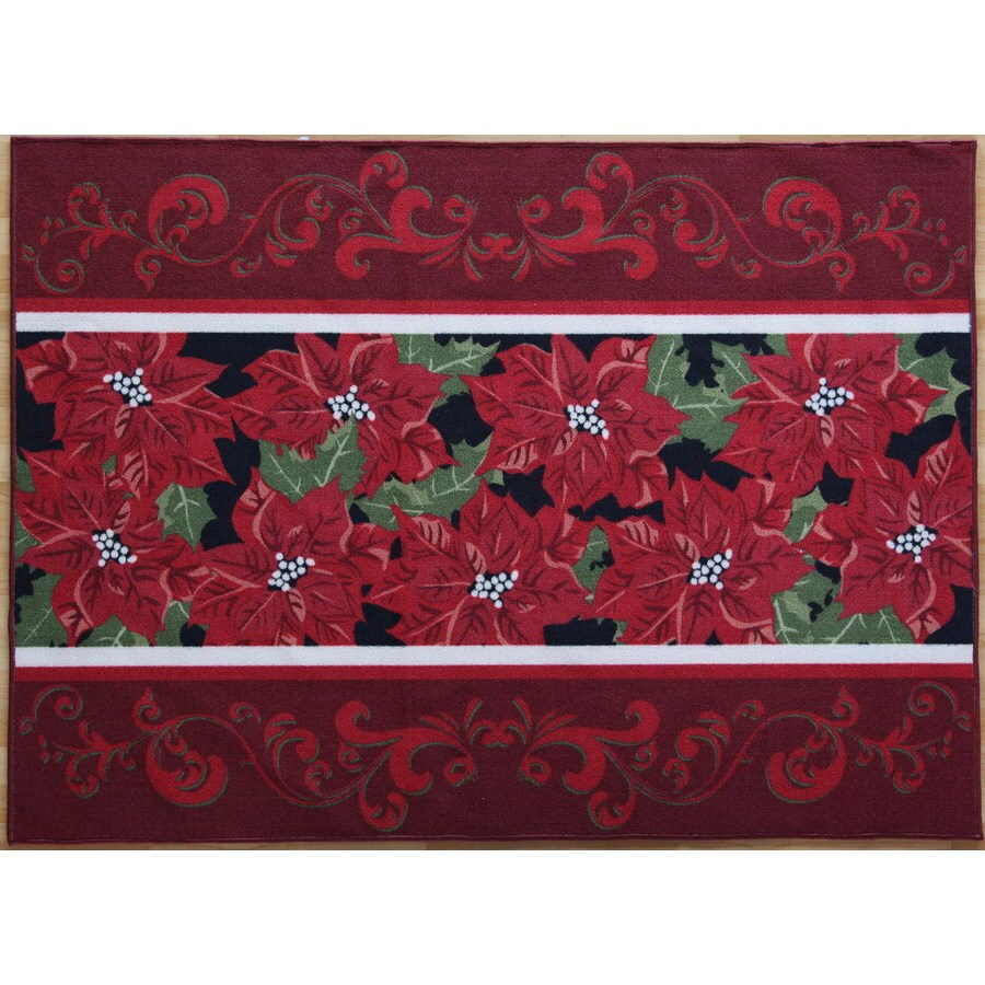 Holiday Living Christmas Rug Promotion 52 X 72 Rectangular Multicolor Fl