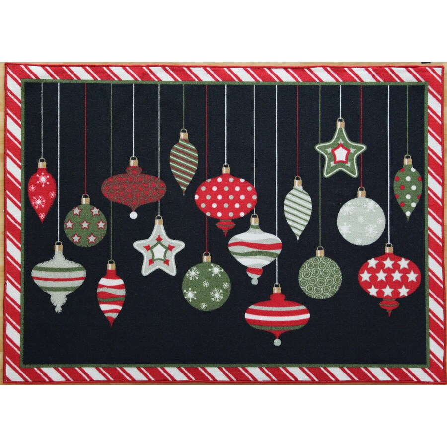 Holiday Living Christmas Rug Promotion 52 X 72 Rectangular Multicolor Fl Accent
