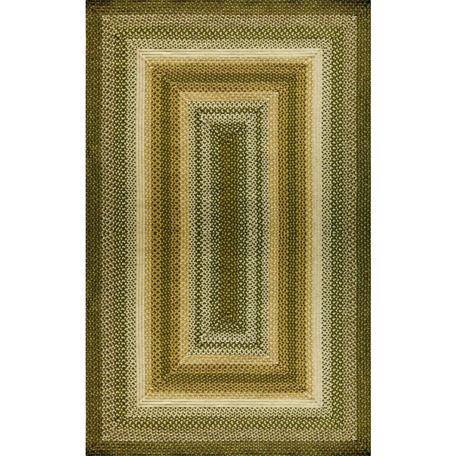 Style Selections Braided Rug Rectangular Indoor and Outdoor Braided Area Rug (Common: 5 x 8; Actual: 60-in W x 96-in L)