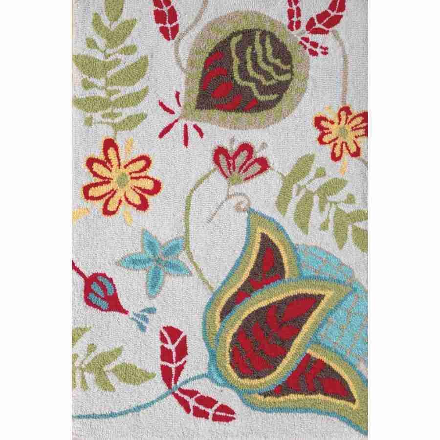 Style Selections Hooked Memory Foam Rug Rectangular Indoor Hand-Hooked Throw Rug (Common: 2 x 3; Actual: 24-in W x 36-in L)