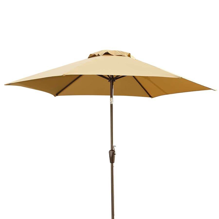 Sunjoy Beige Garden Patio Umbrella (Common: 9-ft W x 9-ft L; Actual: 9-ft W x 9-ft L)