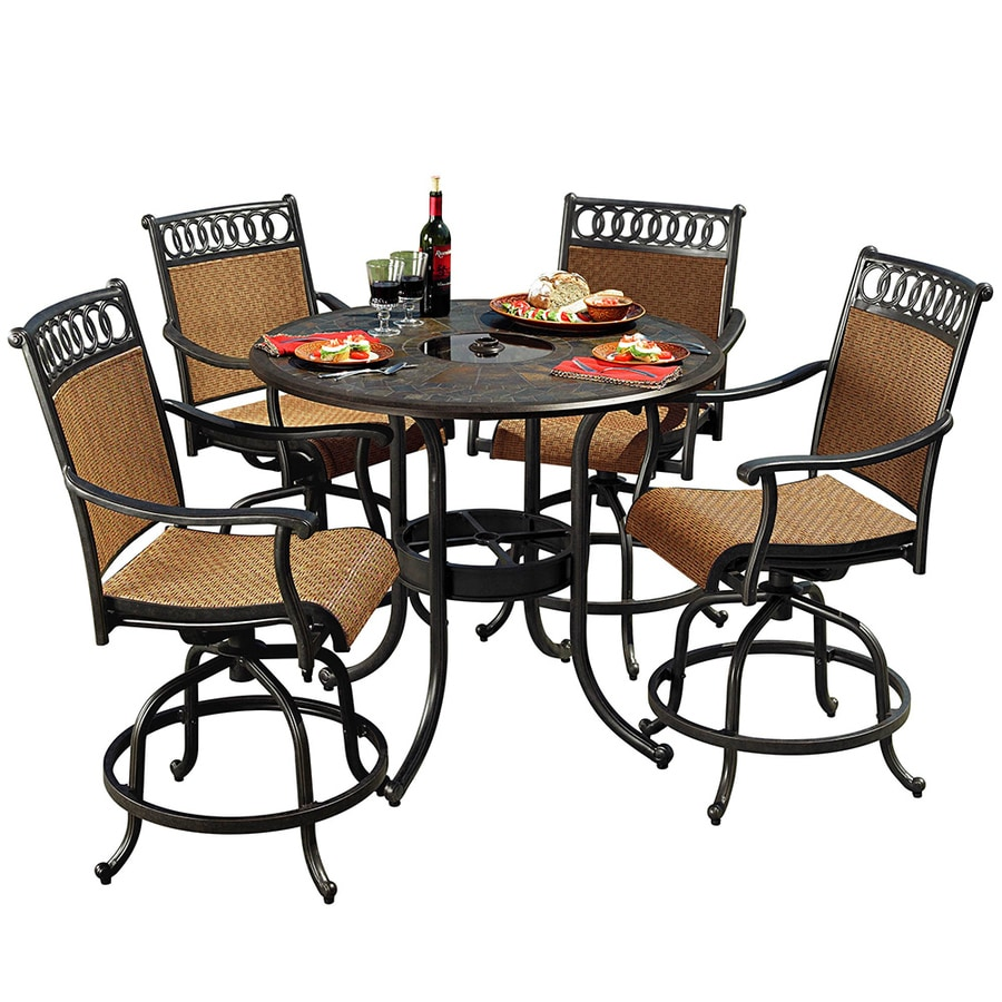 shop sunjoy 5 piece aluminum patio dining set at. Black Bedroom Furniture Sets. Home Design Ideas