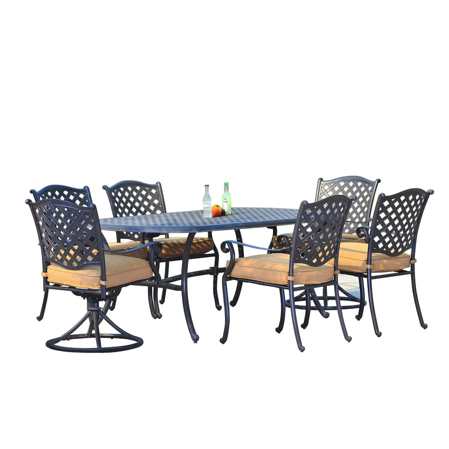 Sunjoy Cast Aluminum Patio Dining Set