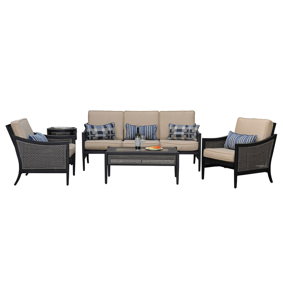 Sunjoy Bentley 5-Piece Aluminum Patio Conversation Set
