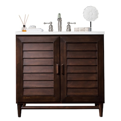 James Martin Vanities Portland 36 In Burnished Mahogany