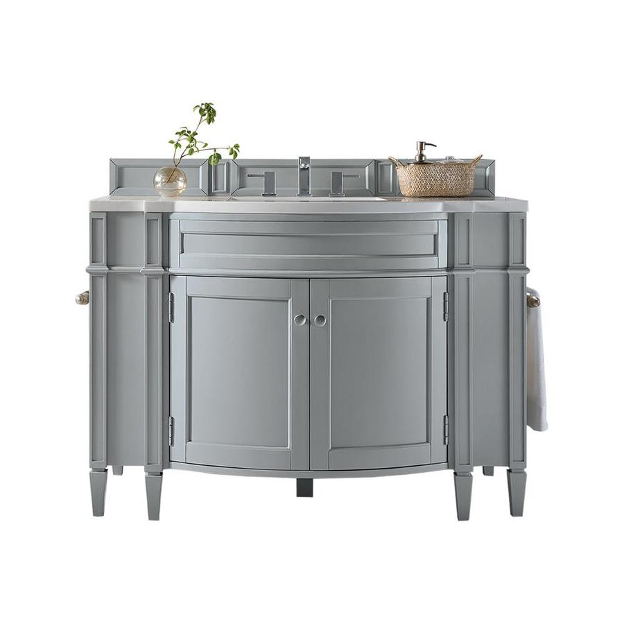 James Martin Vanities Brittany 46 In Urban Gray Undermount Single Sink Bathroom Vanity With Arctic Falls Solid Surface Top In The Bathroom Vanities With Tops Department At Lowes Com