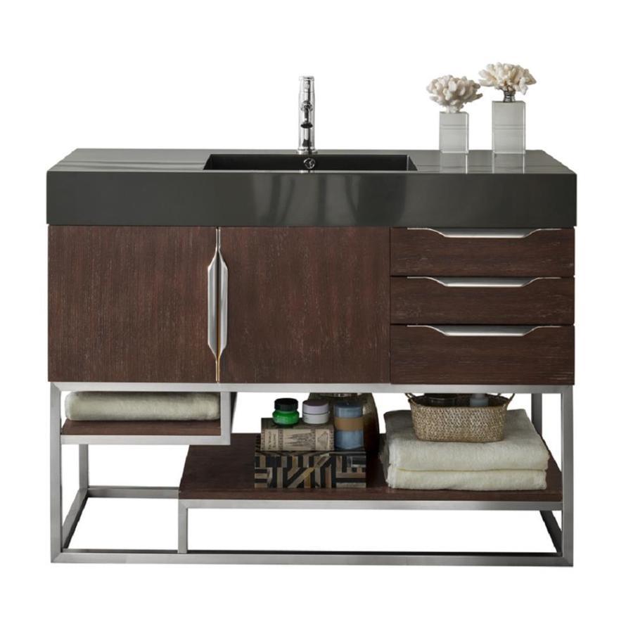 . James Martin Vanities Columbia 48 in Coffee Oak Single Sink Bathroom