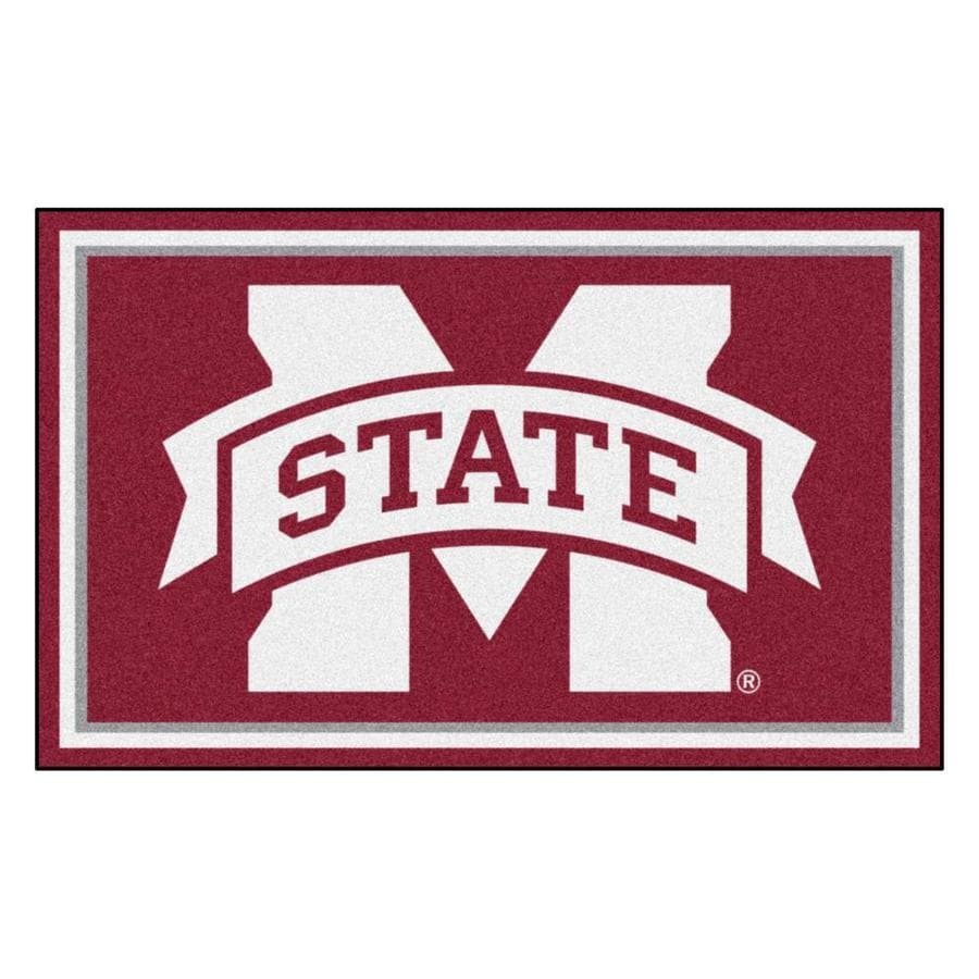 FANMATS Mississippi State University Burgundy Rectangular Indoor Tufted Sports Area Rug (Common: 4 x 6; Actual: 48-in W x 72-in L x 0-ft Dia)