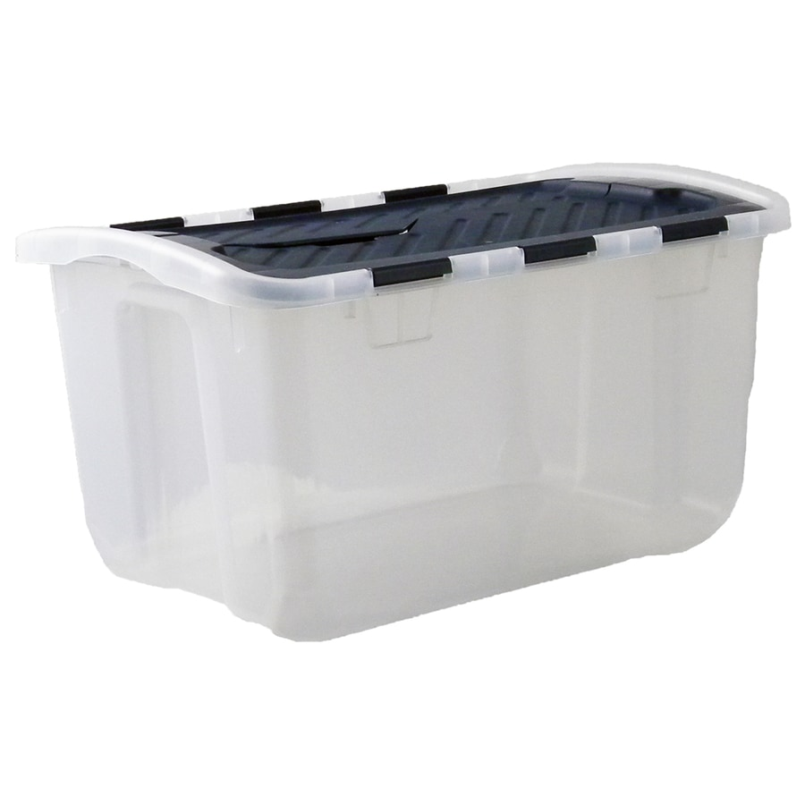 Style Selections 6.5 Gallon Clear Tote With Hinged Lid