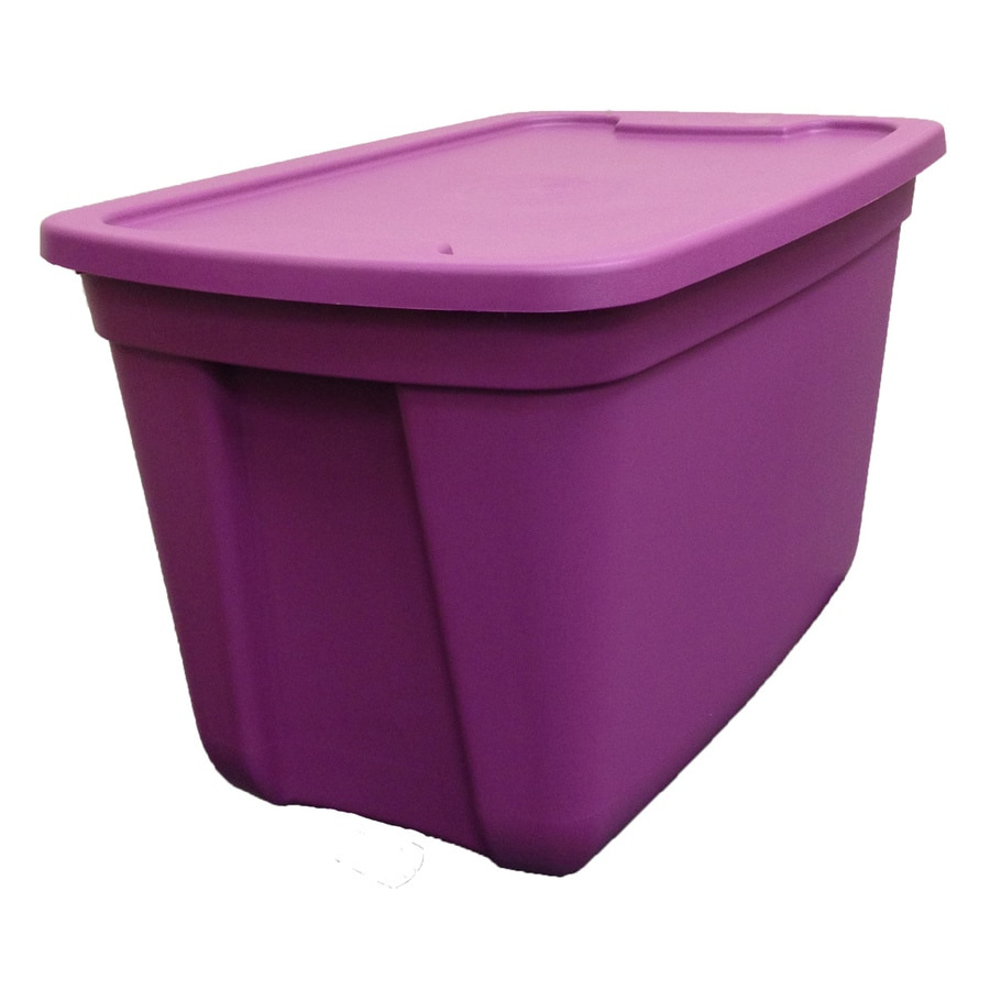 Style Selections 18-Gallon Tote with Standard Snap Lid